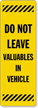 Back-Of-Sign Parking Lot Sign Decal
