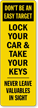 Lock Your Car Back-Of-Sign Decal