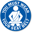 You Must Wear Your Seat Belt Label