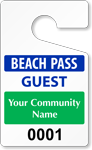 Plastic ToughTags™ for Beach Parking Permits