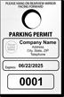 Custom Temporary Parking Permit Mirror Hang Tag