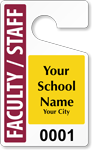Plastic ToughTags™ for Faculty Parking Permits