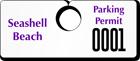 Plastic ToughTags™ Parking Permits, Horizontal