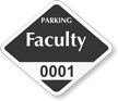 Faculty Window Decal 1.5 in. 1.75 in.