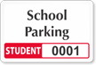 Student Window Decal 2 in. x 3 in.