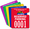 Reserved Parking Permit Mirror Hang Tag, Small Size