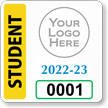 Student Window Decal 2 in. x 2 in.