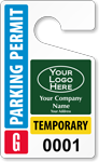 Plastic ToughTags™ for Temporary Parking Permits