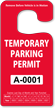 Temporary Parking Permit Rearview Mirror Jumbo Hang Tag