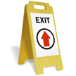 Exit (Up Arrow) Fold-Ups® Floor Sign