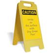 Caution Blank Fold-Ups® Floor Sign