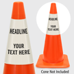 Add Your Headline And Text Custom Cone Collar