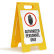 Authorized Personnel Only (W/Graphic) Fold-Ups® Floor Sign