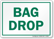 Bag Drop Golf Recreation Sign