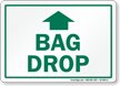 Bag Drop Up Arrow Golf Recreation Sign