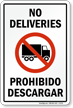 Bilingual Truck and Delivery Sign