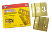Brass Number Stencils Kit
