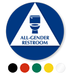 California All-Gender Restroom Door Sign