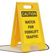 Watch for Forklift Traffic FloorBoss XL™ Floor Sign