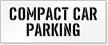 Compact Car Parking Lot Stencil