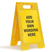 FloorBoss XL™ Custom Floor Stand Sign