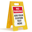 Custom No Parking Standing Floor Sign