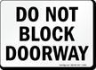 Block Doorway Sign