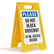 Do Not Block Driveway FloorBoss Sign