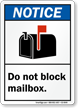 ANSI Notice Postbox Regulation Sign