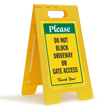 Dont Block Driveway Gate Access FloorBoss Sign
