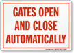 Door Gate Sign