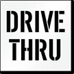 Drive Thru Pavement Stencil