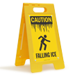 Falling Ice OSHA Caution Floor Standing Sign