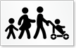 Family Parking Symbol Stencil