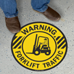 Circular Warning Forklift Traffic SlipSafe Floor Sign