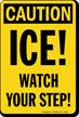 Ice Watch Your Step OSHA Caution Sign