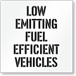 Low Emitting Fuel Efficient Vehicles Parking Stencil