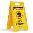 FloorBoss XL™ Free-Standing Sign - High-Impact Plastic 23.5in.H x 12.25in.W