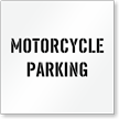 Motorcycle Parking, Parking Lot Stencil
