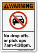 No Drop Pick Ups Sign