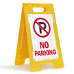 No Parking Portable Floor Sign
