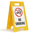 No Smoking (W/Graphic) Fold-Ups® Floor Sign