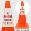 No Smoking Within 25 Feet Cone Collar