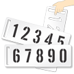 2-piece Set of Number Stencils with Handle