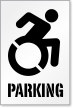 Parking Stencil with New ISA Symbol