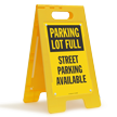 Parking Full Street Parking Available Floor Sign