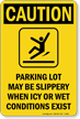 OSHA Caution IceAlert Sign