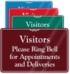Visitors Please Ring Bell Showcase Wall Sign