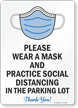 Parking Lot Social Distancing Sign