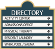Directory Sign, 5-Panel